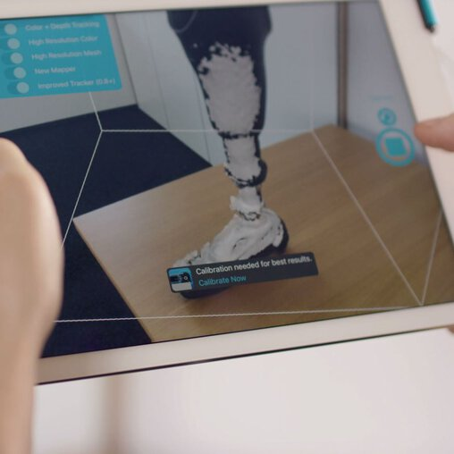 Mecuris Prosthesis Preview on Tablet | © EOS