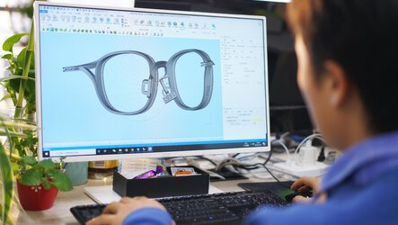 Easy production of individual glasses frames by means of additive manufacturing as a complete scan-to-print solution