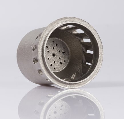 Euro-K: Additive manufactured micro burner for the combustion of gaseous and liquid fuels, built on an EOS M 290