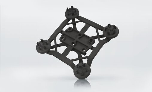 Lightweight gripper system with integrated functionality. Weight reduction by 86 % to just 220 g