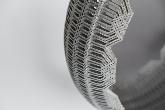 3D-printed Combustion Chamber, DMLS, metal, 3D printing  | © EOS