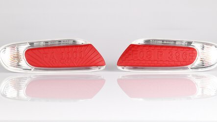 MINI blinker inlays, individually produced on an EOS P 396 | © EOS