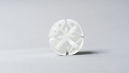 6/2 Auxetic construction manufactured with additive manufacturing by EOS (Source: Thiele + Wagner)