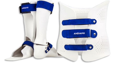 Foot and upper body orthoses from Andiamo | © EOS