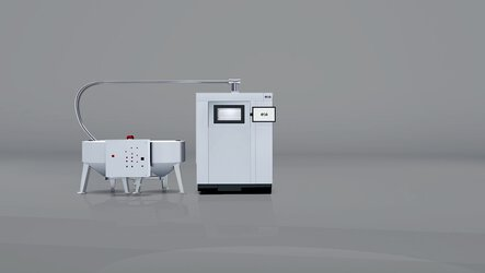 IPCM P mixing and dosing station: mixes new powder with used powder and feeds it into the machines | © EOS