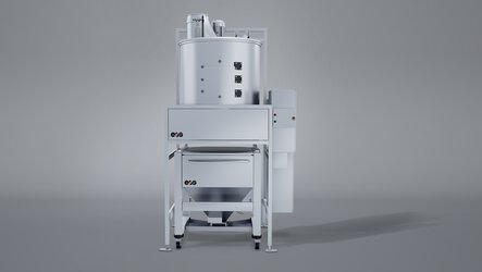 Mixing & Qualification Station (MQS): for gravimetric dosing, homogenization and conditioning of new and used powder | © EOS