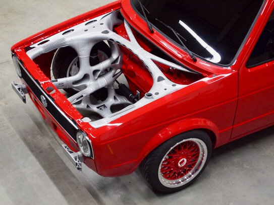 3i-PRINT partnership project: The front-end structure of a classic VW Caddy highlights the potential of industrial 3D printing