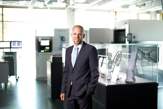 Appointed as new CEO at EOS GmbH: Dr. Adrian Keppler.