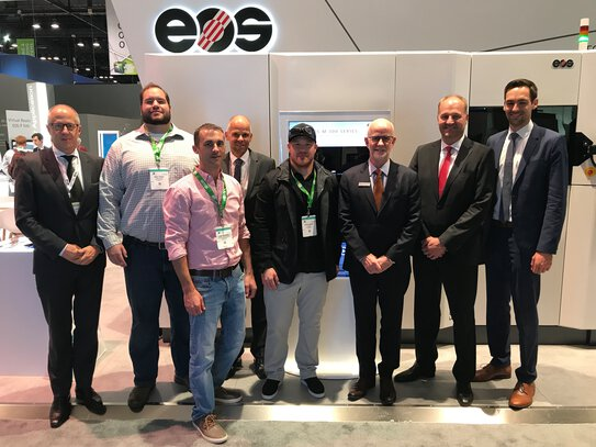 Representatives of Visser Precision and EOS.