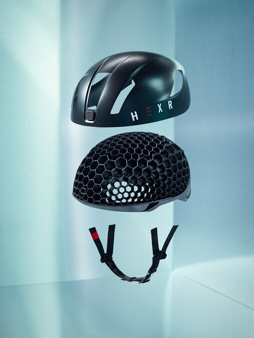 Individualized HEXR cycling helmet with a 3D printed honeycomb inner structure